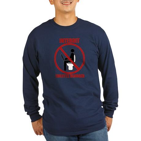 INTERDIT TOILETTE BLOGGER Long Sleeve Dark T-Shirt