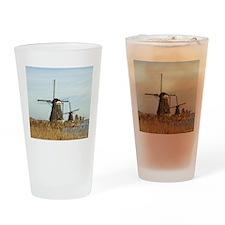 Five Dutch Windmills Drinking Glass