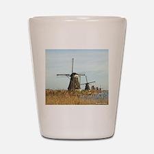 Five Dutch Windmills Shot Glass