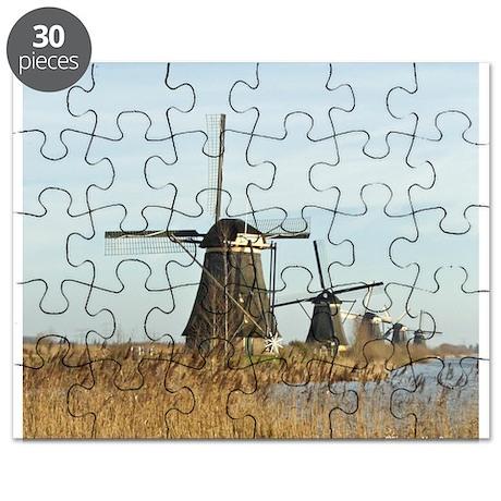 Five Dutch Windmills Puzzle