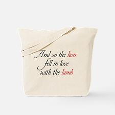 Lion Lamb Tote Bag