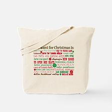 Tennis Holiday Greetings Tote Bag
