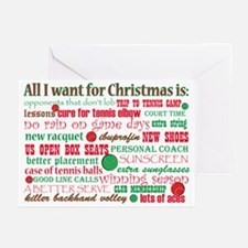 Tennis Holiday Greetings Greeting Cards (Pk of 20)