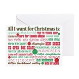 Christmas tennis Greeting Cards (10 Pack)