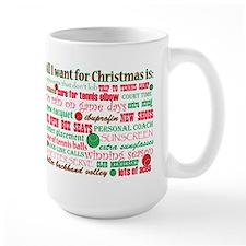 Tennis Holiday Greetings Mug