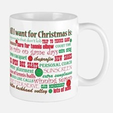 Tennis Holiday Greetings Mug
