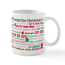 Tennis Holiday Greetings Small Mug