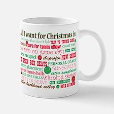 Tennis Holiday Greetings Small Small Mug