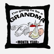 Funny Grandma To Be Personalized Throw Pillow