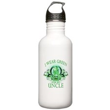 I Wear Green for my Uncle (fl Water Bottle