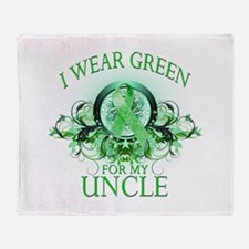I Wear Green for my Uncle (fl Throw Blanket