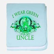 I Wear Green for my Uncle (fl baby blanket