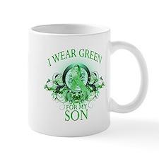 I Wear Green for my Son (flor Small Mug