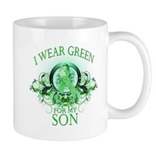 I Wear Green for my Son (flor Small Small Mug