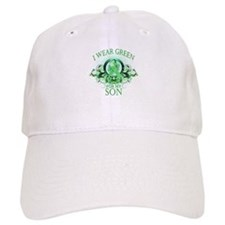 I Wear Green for my Son (flor Baseball Cap
