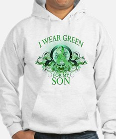 I Wear Green for my Son (flor Hoodie