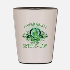 I Wear Green for my Sister In Shot Glass