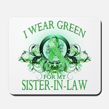 I Wear Green for my Sister In Mousepad