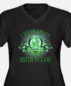 I Wear Green for my Sister In Women's Plus Size V-
