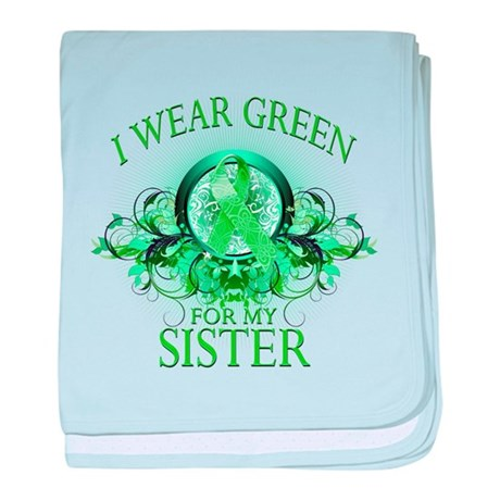 I Wear Green for my Sister (f baby blanket