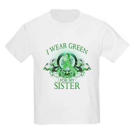 I Wear Green for my Sister (f Kids Light T-Shirt