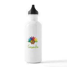 Casandra the Turkey Sports Water Bottle
