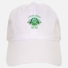 I Wear Green for my Mom (flor Baseball Baseball Cap