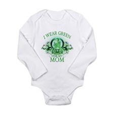I Wear Green for my Mom (flor Long Sleeve Infant B