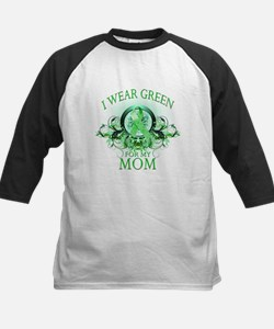 I Wear Green for my Mom (flor Kids Baseball Jersey