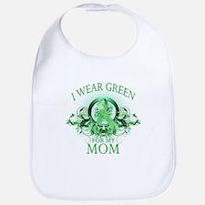 I Wear Green for my Mom (flor Bib
