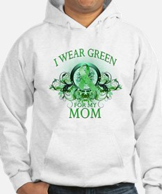 I Wear Green for my Mom (flor Hoodie