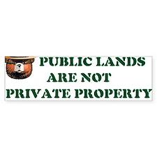 PUBLIC LANDS Bumper Bumper Sticker