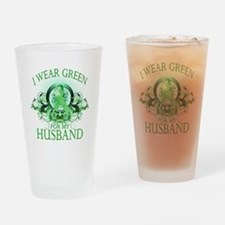 I Wear Green for my Husband ( Drinking Glass