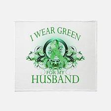 I Wear Green for my Husband ( Throw Blanket
