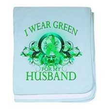 I Wear Green for my Husband ( baby blanket