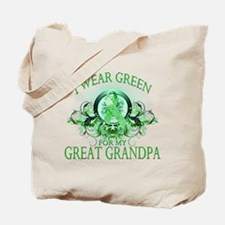 I Wear Green for my Great Gra Tote Bag