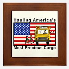 School Bus Precious Cargo Framed Tile