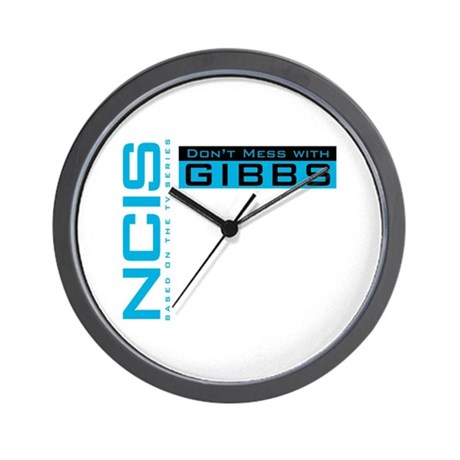 NCIS Don't Mess with Gibbs Wall Clock