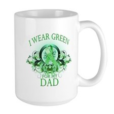 I Wear Green for my Dad (flor Mug