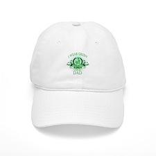I Wear Green for my Dad (flor Baseball Cap