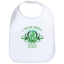 I Wear Green for my Dad (flor Bib