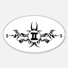 Tribal Gemini Sign Oval Decal