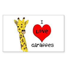 I Love Giraffes! Decal