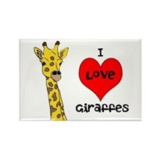 I Love Giraffes! Rectangle Magnet