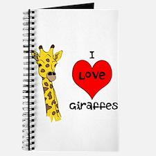 I Love Giraffes! Journal