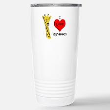 I Love Giraffes! Travel Mug