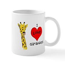 I Love Giraffes! Mug