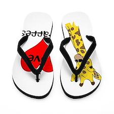 I Love Giraffes! Flip Flops