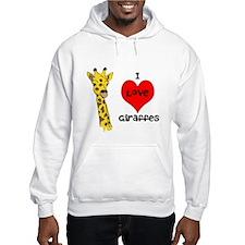 I Love Giraffes! Jumper Hoody