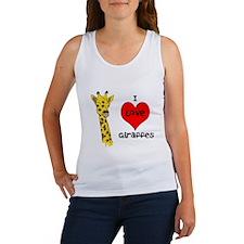 I Love Giraffes! Women's Tank Top
